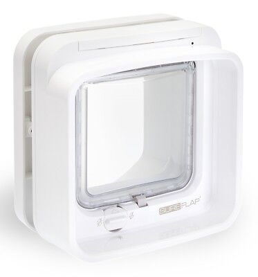 SureFlap Dual Scan Microchip Cat Flap White - Selective Entry & Exit, Genuine