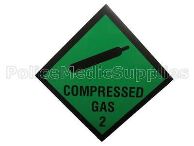 Compressed Gas Vehicle Sticker-Ambulance,Paramedic, First Responder, Medic Diver