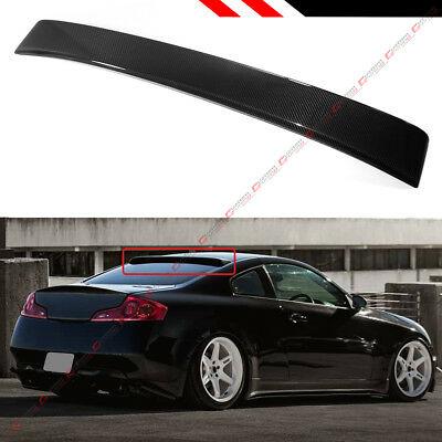 Fits 2003-07 Infiniti G35 V35 Coupe Real Carbon Fiber Rear Roof Top Spoiler Wing