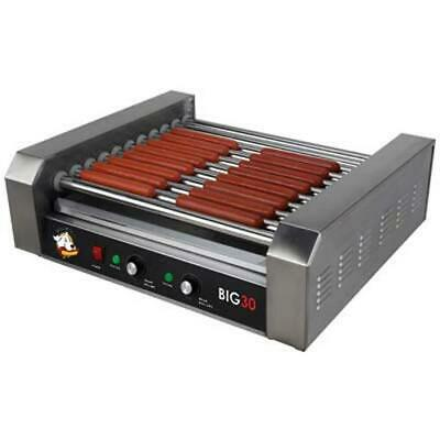 Roller Dog Commercial 30 Hot Dog Roller Grill Cooker Machine - RDB30SS