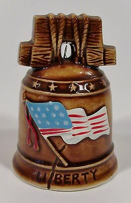 small ceramic Liberty bell - made in Japan