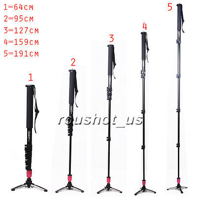 Aluminum Alloy Unipod Monopod Flip Lock 3 Legs Stand Base Tripod For Camera - US