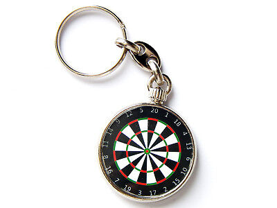DART BOARD Sport Quality Chrome Keyring Picture on Both Sides!
