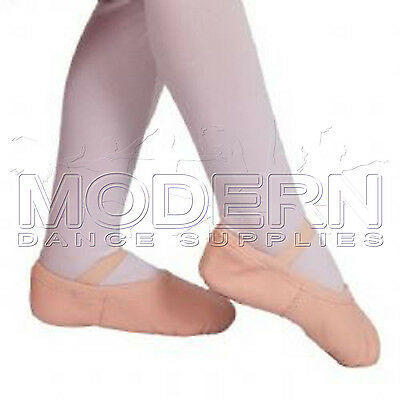 New Cow Leather Jazz Ballet Exam Shoes split sole Excellent quality Ballet Pink