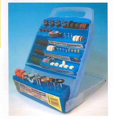 Rotacraft RC9400 400pc Rotary Tool Accessory Kit in Plastic Storage Case T48 Pos