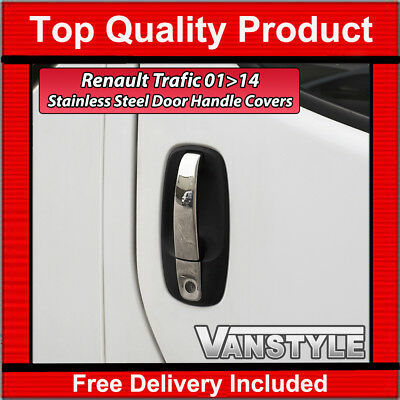 Renault Trafic 2001-14 Chrome 4-Door  Handle Cover Set Quality Stainless Steel