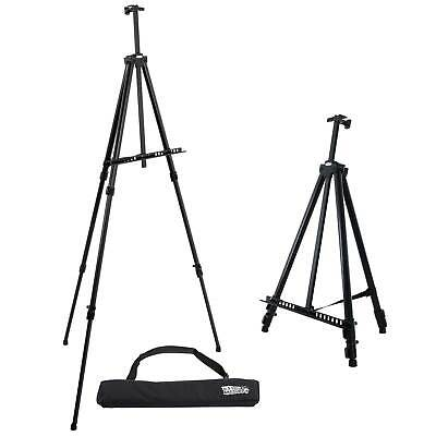 """84"""" XL Aluminum Easel, Tripod Artist Field and Display Stand, Floor and Tabletop"""