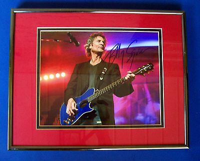 """BILLY SQUIER SIGNED 8""""X 10"""" PHOTO DOUBLE MATTED & FRAMED W/COA"""