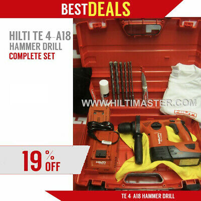 Hilti Te 4-A18, Excellent Condition, Free Bits, Hat, Extras, Fast Ship