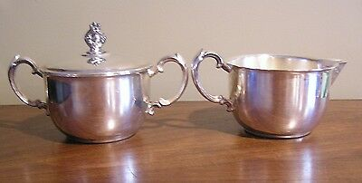 Vintage Sheridan silver plated sugar and creamer Made in Taunton Massachusetts