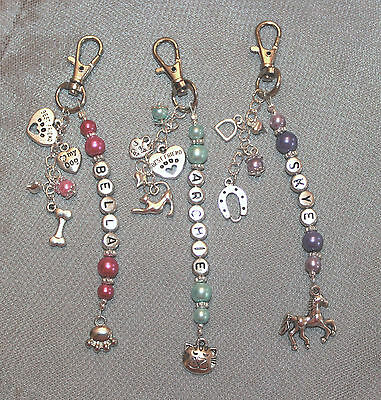 Personalised Dog, Cat or Horse Lover 'Best Friend' Bag Charm Key Ring