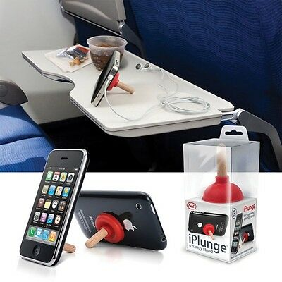 FRED iPLUNGE: HANDY STAND FOR YOUR IPHONE OR IPOD! KRIS KRINGLE STOCKING STUFFER