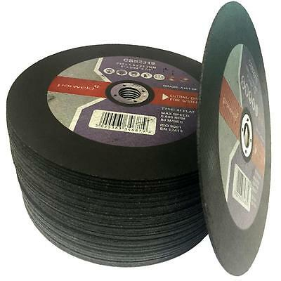 """(PACK OF 10) Parweld (9"""") 230mm x 1.9mm Thin stainless steel metal cutting discs"""