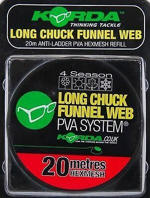 Korda Long Chuck Funnel Web Hexmesh PVA Refill  20m