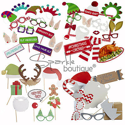 CHRISTMAS PHOTO BOOTH PROPS/KITS-Xmas Party/Winter Wedding/Selfie/Game/Instagram