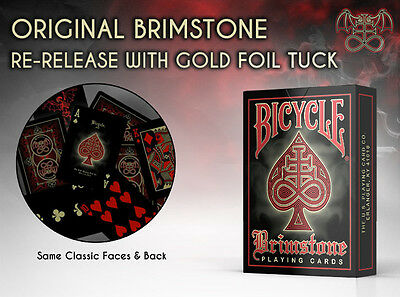 Bicycle Brimstone Red Playing Cards Limited Edition New Deck