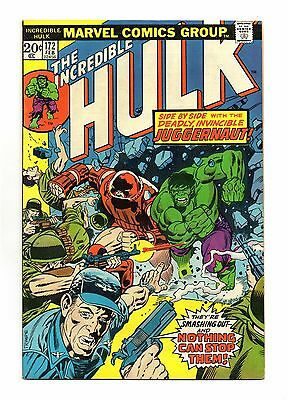 Incredible Hulk Vol 1 No 172 Feb 1974 (VF-) Origin of Juggernaut,  X-Men appear