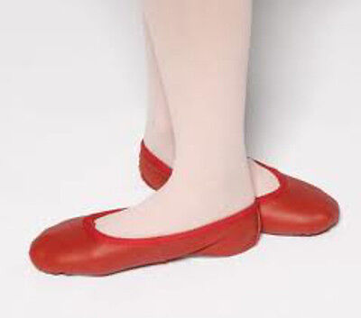 CLEARANCE Leather Ballet Shoes split sole wedding Excellent quality RED