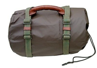 UNIQUE CARRYING STRAPS & LEATHER HANDLE LONG EX-ARMY vintage transport luggage