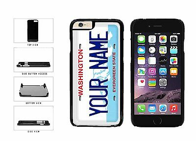 Personalized Custom Washington License Plate Plastic Case For iPhone 6 (4.7 In)