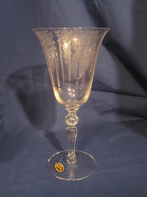CAMBRIDGE CANDLELIGHT WATER GOBLET ORIGINAL LABEL MINT CONDITION