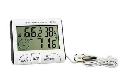 Indoor Outdoor Digital Thermometer & Hygromometer Humidity Mini Weather  Station