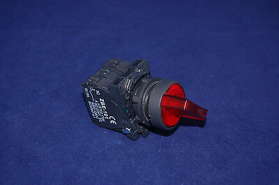 22mm ILLUMINATED Selector switch 3 Position Fits RED XB5AK134J5 12V Maintained