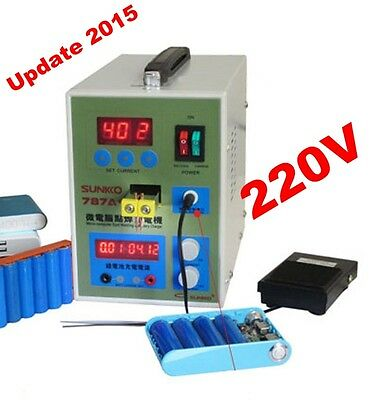 Update 2015 Battery Spot Welder Welding Machine Charging Capability Charger 220V