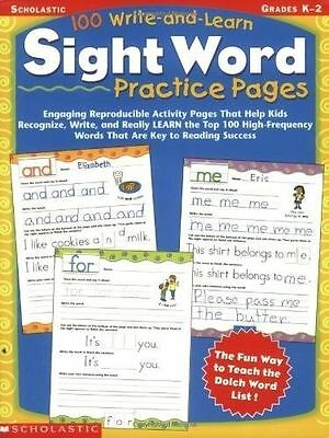 100 Write and Learn Sight Word by Scholastic Teaching Resources (Paperback)