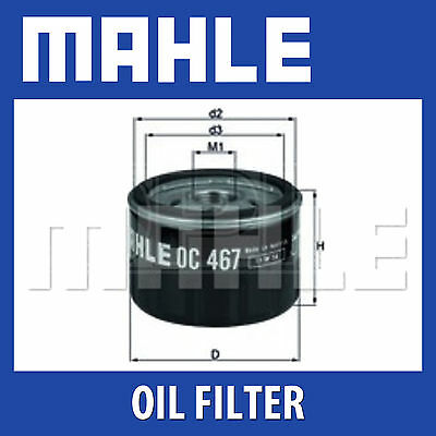 Mahle Oil Filter OC467 - Fits Alfa Romeo Renault, Suzuki - Genuine Part