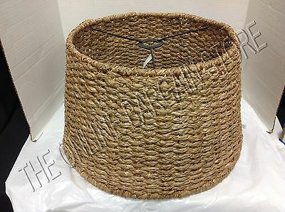 Pottery Barn Kids Woven Pendant Drum Ceiling Lamp Light Shade Seagrass
