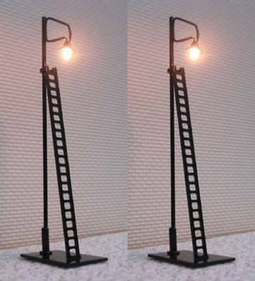 Pack of 2 x LED Yard Lights with Ladders OO Gauge SM42-11