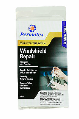 Permatex Windshield Repair Kit with illustrated instructions to do it yourself