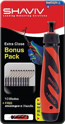 Mango II Bonus Pack Deburring Kit 155-00177 10pcs of B10 Blades SHAVIV 29249
