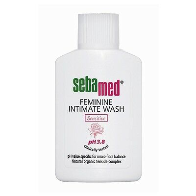 Sebamed Feminine Intimate Sensitive Wash 200ml Soap Free alpha bisabolol UK Stok