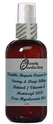 *2% Retinol-Vitamin A Cream Serum with *Matrixyl 3000,Pure Hyaluronic Acid 2.2oz