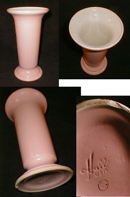 """1950s Hull Art Pottery Matte Pink Flared Vase 11 5/8"""" #163 Free Shipping"""
