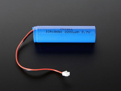 Lithium Ion Polymer Cylindrical 3.7v Rechargeable Battery 2200mAh Lipo Arduino