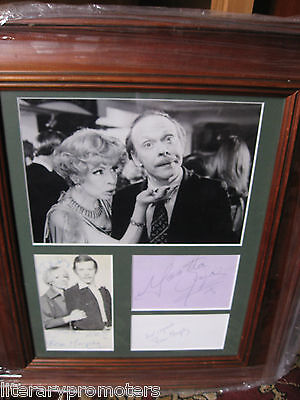 Yootha Joyce Brian Murphy Hand Signed X 4 Autograph George Mildred Coa Signature