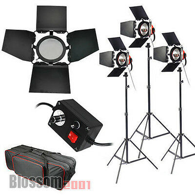 3x800W Redhead Red Head Halogen Tageslicht Videoleuchte Video Fotostudio Set DHL