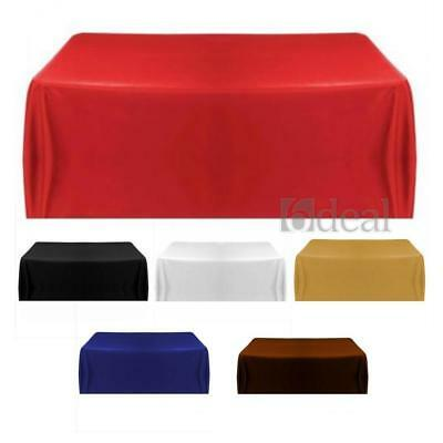 Satin Tablecloth Table Cover for Banquet Wedding Party Home Decor 145cm