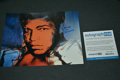 MUHAMMAD ALI  signed Original Autogramm In Person 20x25 cm Rar!!