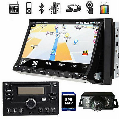 """7""""LCD Touch Screen 2Din In dash Car Stereo DVD Player GPS NAVI Bluetooth +Camera"""