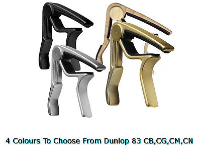 DUNLOP 83 Acoustic Curved Trigger Capo Gold, Nickel, Black, Maple
