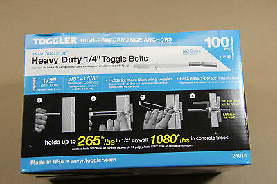 "Toggler  SnapToggle BB  1/4""  H/D Strap Snap Toggle Bolts  100  24014 or 25014"