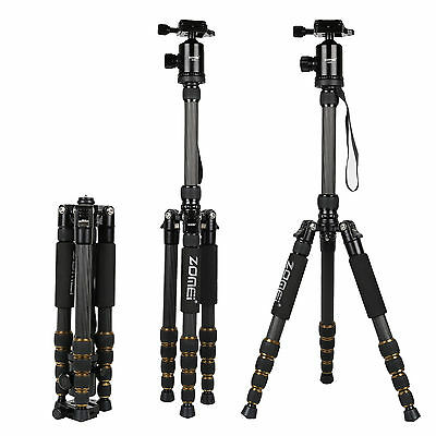 ZOMEI Z669C Professional Carbon Fiber Tripod Monopod&Ball Head for DSLR Camera