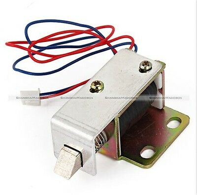 1 Pc Cabinet Door Electric Lock Assembly Solenoid DC 12V 0.6A Square Bevel Latch