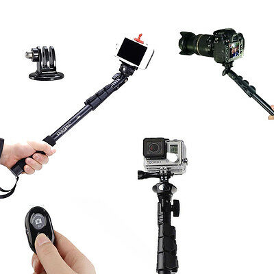 Extendable Handheld Monopod Bluetooth Remote Stick for Gopro hero 4 3+ iPhone 6