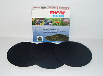 EHEIM 2628310 ECCO FILTER CARBON FOAM PAD. Pack of 3 2232, 2234, 2236, pro 2/300