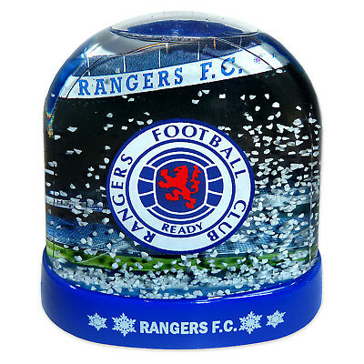 Rangers FC Official Football Gift Stadium Christmas Snow Dome Globe